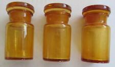 3 alte Apothekerfläschchen aus braunem Glas inkl. Crypto Stamp
