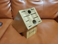 Cutco - Homemaker - Wooden Knife Block - 10 Slots - Solid Honey Oak or golden VG