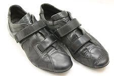 CESARE PACIOTTI shoes sz  9 Europe sz.43  black canvas leather.S6393