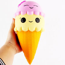 Jumbo Colossal Squishy Pink Ice Cream Scented Super Slow Rising Food Kids Toys