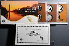 2013  U. S. MINT PROOF SET, WITH BOX, COA & 14 PROOF COINS,  SKU-189