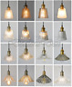MODERN NEW VINTAGE INDUSTRIAL RETRO LOFT GLASS CEILING LAMP SHADE PENDANT LIGHT