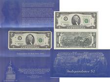 1995 $2 Star Note Atlanta District BEP Independence Folder FR# 1936-F* UNC