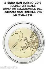 2 euro San Marino 2017 Tourisme Durable Album Officiel livré de Sain Marin