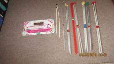 Paquet de 7 paires de Assortiment Aiguilles à tricoter Plus Stitch Holder & Marqueur Kit