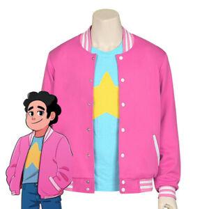 Steven Universe Cosplay Costume Men Baseball Coat T Shirt TEE Halloween Outfit