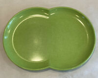 Vintage Lime Green Color-Flyte Melmac Melamine Double Bubble Platter Plate Dish