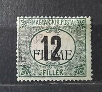 FIUME-Hungary stamp italien occupation 1918 (Sass# C2) USED-1500€ (SIGNED BODOR)