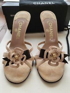 Chanel Mules High Heels LT Pink / Beige EUR36