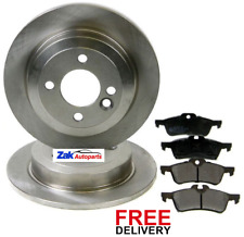 FOR MINI R50 R53 ONE (01-06) COOPER COOPER S WORKS ONE D REAR BRAKE DISCS & PADS
