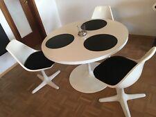 3 x Arkana Chair von Maurice Burke 70er Stühle Design Bauhaus Tulipstuhl Tulpen