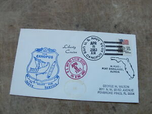 1983 United States Stamp cover - U.S Navy - USS Canopus