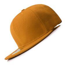 New Orange FLAT Peak SNAPBACK Plain Blank Cap Dancer Hat Gift Chapeau