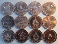 King Bhumibol Adulyadej Rama IX Complete 12 Coin 50 Baht set Thailand 1995 -2017