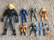 1990s ToyBiz Marvel Action Figure Lot X-Men Wolverine Cable Ghost Rider