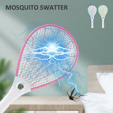 Fly Swatter Bug Zapper Electric Bat Insect Killer Wasp Mosquito Racket USB pink