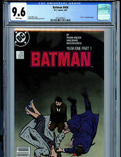 Batman #404 Year One Part One CGC Graded 9.6 NM+ DC Comics1987 Miller Story