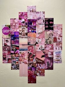 30 Pink Boujee And Aesthetic Wall Collage Kit