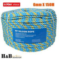 6mm x 150M Telstra Rope Parramatta Rope Coils Breaking Strength 595 KG T0242