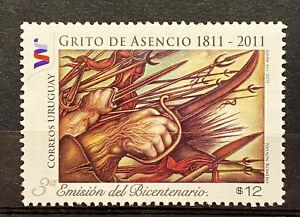 "URUGUAY - ""GRITO DE ASENCIO"" 1811 2011  - MNH STAMP"