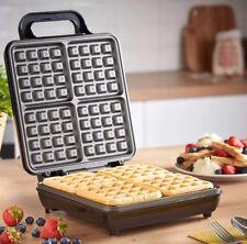 Vonshef Quad Belgian Waffle Maker 1100W Non-Stick Coating & Automatic Control