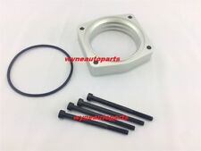 SILVER THROTTLE BODY SPACER for 2009 to 2014 NISSAN MAXIMA 3.5L V6