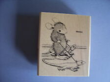 HOUSE MOUSE RUBBER STAMPS REPTILE WALK NEW WOOD STAMP