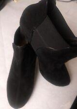 "Ladies Clarks Plus Black Suede Booties Shoes UK size 5D  Heel size 2.5""(104)"