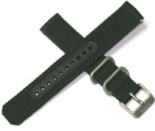 GENUINE SEIKO EXTREMELY TOUGH MILITARY NYLON WATCH STRAP BLACK 18MM WASHABLE
