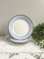 "4 X Royal Doulton Bruce Oldfield 8""  Salad Side Plates Excellent Pastel Blue"