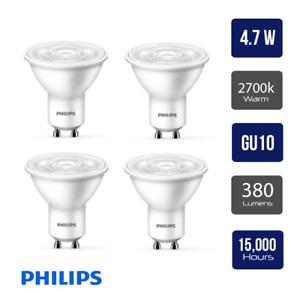 Pack of 4 x Philips CorePro LED Spot 4.7W (50W) GU10 Lamp 2700k Warm White 380 L