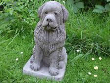 More details for large sitting  newfoundland dog stone garden sculpture statue