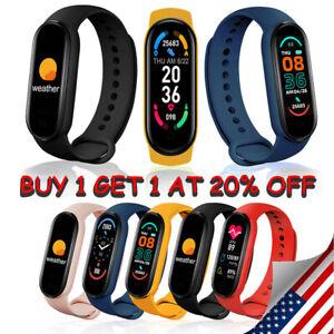 M6 Smart Bracelet Watch Tracker Heart Rate Blood Pressure Monitor Rechargeable!