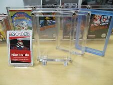 NINTENDO NES - NES  ACRYL CASE - BOX - SCHUTZ HÜLLEN - UV - NEU - TOP - 3 STÜCK