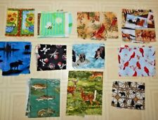 Lot of Cotton Quilting Fabric Scraps Approx.1 Pound Quilting Crafts Scrap Craft