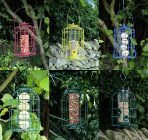 Wild Bird Hanging Feeder Squirrel Proof Feeding Station Seeds Nuts S Hooks Hang