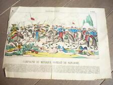 GRAVURE 1890 CAMPAGNE DU MEXIQUE COMBAT DE SAN-JOSE
