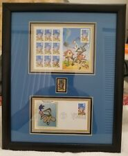 Framed Wile E. Coyote Road Runner FDC Cancelled Stamp Set (Pre-Owned)