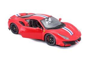 Bburago 1:24 Ferrari 488 Pista Diecast Model Sports Racing Car NEW RED