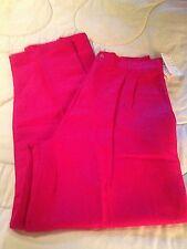 WOMAN'S MIKABE LINEN BLEND FUSCHIA DRESS OR CASUAL PANTS SLACKS TROUSERS NWT 12