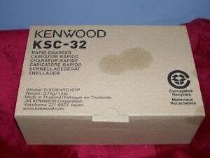 NEW IN BOX , KENWOOD KSC-32 RAPID CHARGER. OPENED BOX FOR PICTURES