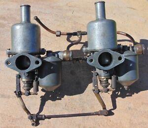 Vintage SU Twin Carburettors Jaguar Tall Top 1340K Classic Vergaser SS Riley MG