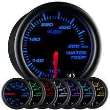 GlowShift 52mm Black 7 Color LED Water Coolant Temperature Temp Gauge Meter - °F