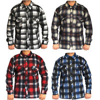 Mens Brushed Fleece Thermal Soft Check Lumberjack Causal Shirt Warm Work Top