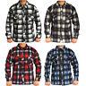 Mens Brushed Fleece Thermal Soft Check Lumberjack Causal Shirt Warm Work Top