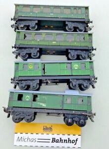 Trix Express Personenwagen 4 Stück Konvolut Blech H0 1:87 å