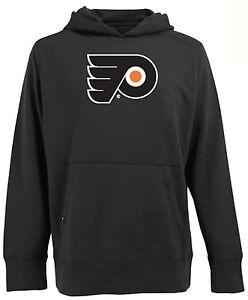 NEW Philadelphia Flyers Big Logo Mens Signature Hooded Sweatshirt Black Mens XL