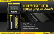 Nitecore Digicharger D2 EU - Cargador para Li-Ion, Ni-MH y LiFePO4 Baterías