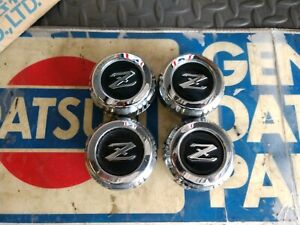 "Datsun 79-83 280ZX  ""IRON CROSS""  3 NOS Wheel Center Caps + 1 (4x) 40343- P7100"