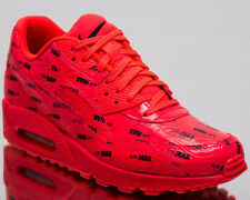 the best attitude e48c2 61d68 Nike Air Max 90 Premium Bright Crimson Black Running Shoes Sz 11.5